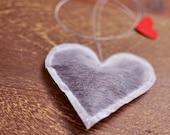 Heart Shaped Tea Bags with 'T2' Tea Leaves