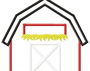 Barn Machine Embroidery Design