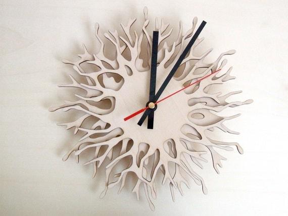 Modern Wall Clocks Coral Branch