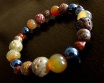 Handsome Gem and Mineral Bracelets  / Jasper  / Hematite  / Tiger Eye / Boho / Healing Stones / Sigrid Anne Design
