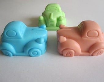 Retro Car Soap - Any occasion Favor - Birthday Baby Party - Handmade Glycerin - Select your color and scent