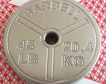 Stainless Steel, Poker Card Protector, Card Guard, Paper Weight, Round BarBell,