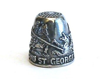 Thimble Saint George and the Dragon Pewter Collectors Thimble