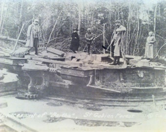"WWI RPPC Propaganda-Emplacement of ""Bertha,"" St. Gobian Forest ©C.E.L"