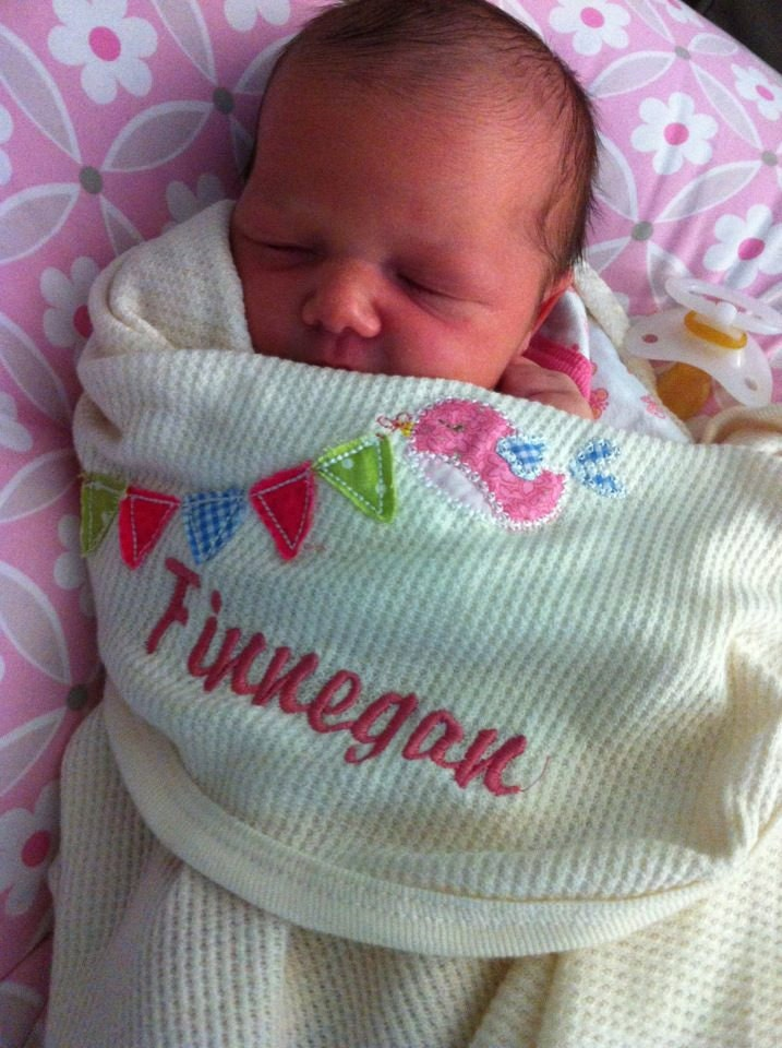 Baby blanket Appliqued & Embroidered with Name SET by ...