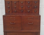 Incredibly Handsome Antique Apothecary Chest - Newtoyoudecor