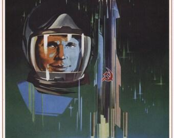 USSR poster, Soviet propaganda, Communism, 007