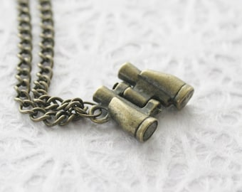 Brass Binoculars Necklace
