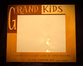 Engraved Grandkids Frame to be Personalized with Names