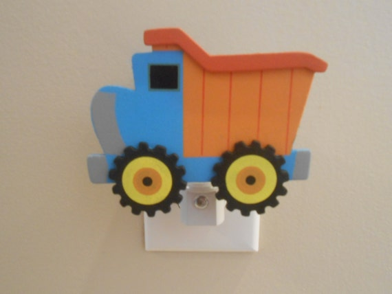 Boy Truck Lamp : Dump truck night light boy nursery