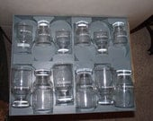 Vintage Eastern Airlines Glass Set and Tray Collectible