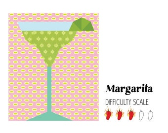 Margarita paper pieced quilt pattern in PDF