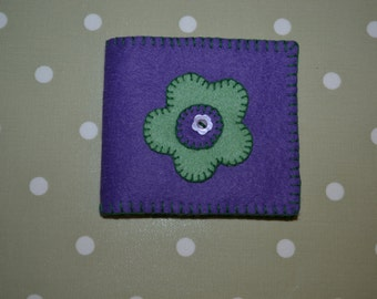 Handmade felt needle holder