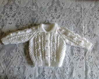 REDUCED PRICE Aran Baby Jacket