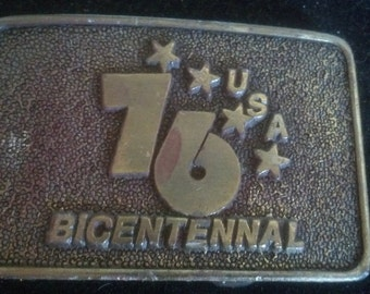 Vintage 1976 US Bicentennial Belt Buckle.