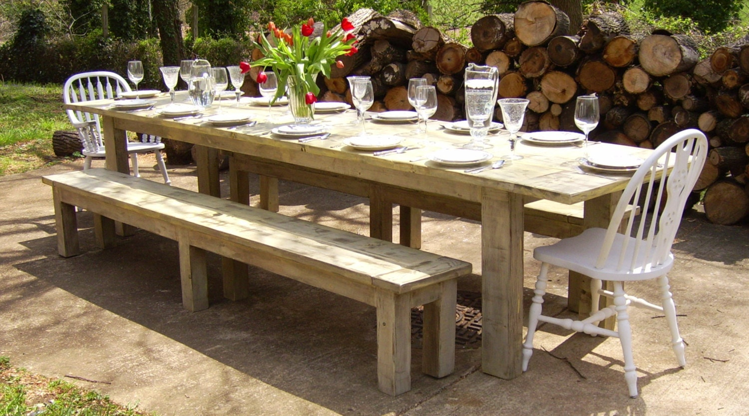 Calvert Parsons Style Dining Table Farmhouse Reclaimed Wood