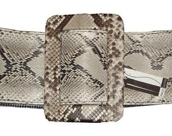 LEATHER HANDMADE BELT / Leather Belt / Python Belt / Belt Handmade / Belt Accessories / Belt Women / Original belt.
