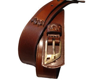 LEATHER HANDMADE BELT / Leather Belt / Belt in Handmade / Belt Handmade / Belt Accessories / Belt Men / Belt Women / Belt Brown.