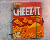 Upcycled recycled journal, art journal, or scrapbook - Lyceum Anything Book (Cheez-It)