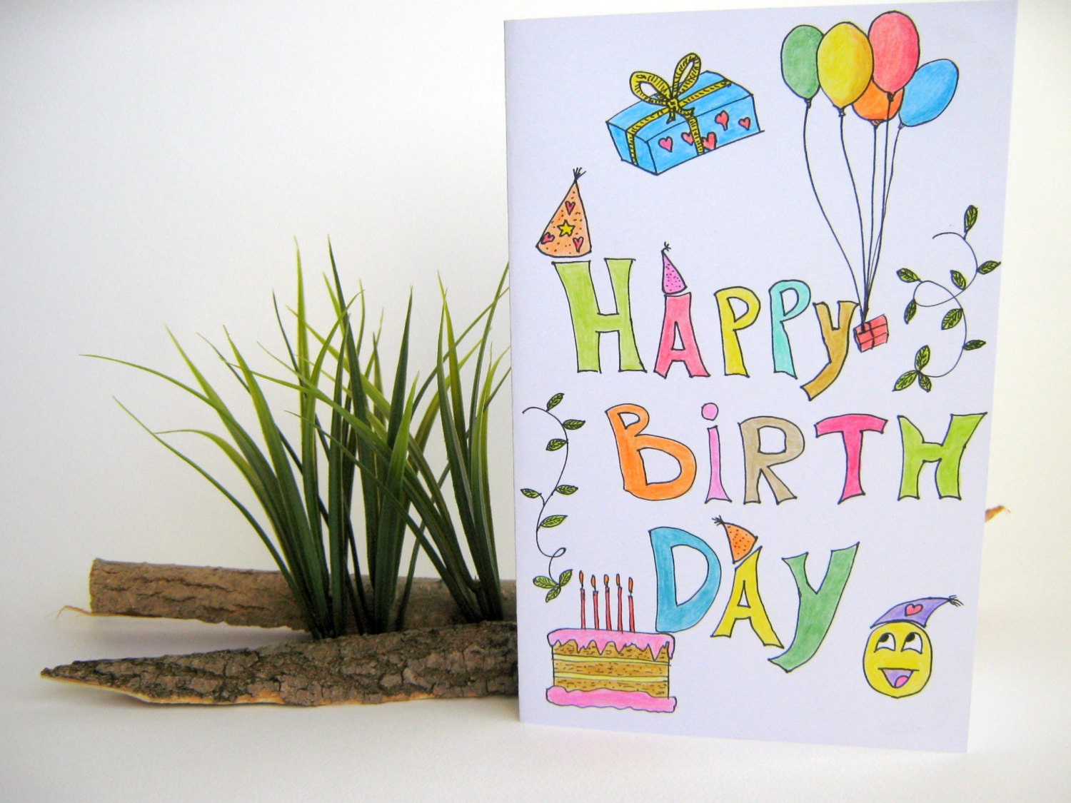 It is an image of Massif Birthday Card Drawing