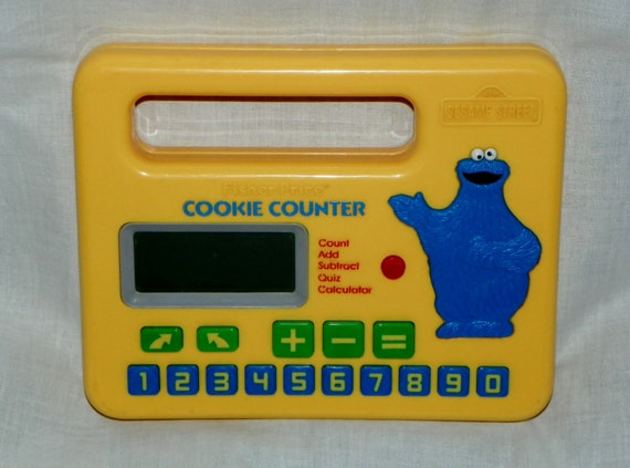 Vintage 1985 Fisher Price COOKIE Monster COUNTER Sesame Street Math Model 3000