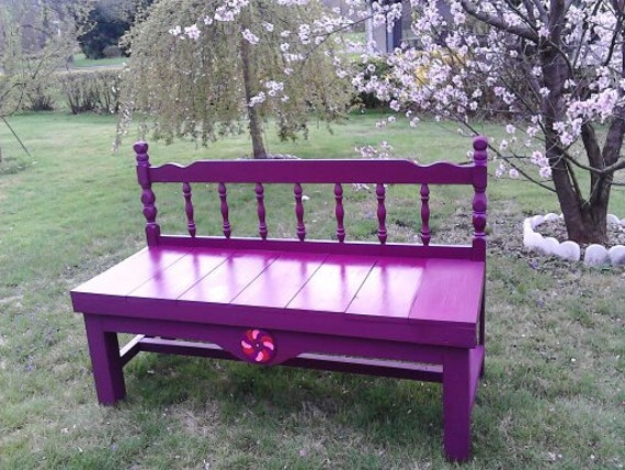 Benches Made From Headboards Shabby Chic To Finished By Mandws