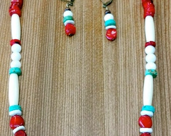 Native American Inspired Necklace and Earring