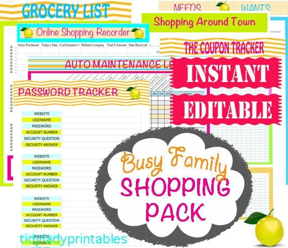INSTANT And EDITABLE Download Home Binder By