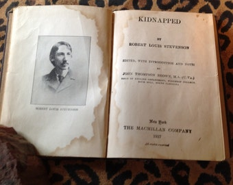 1927 Kidnapped by Robert Louis Stevenson Vintage Electrotyped Fiction