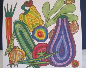 Vegetable Note Card Stationary