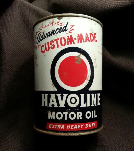 1950 39 S Havoline Motor Oil Can 1 Quart Steel By Ryokosvintiques