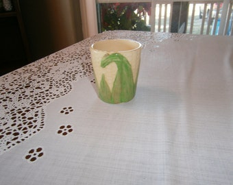 Ceramic Corn Tumbler Made in Japan, Vintage