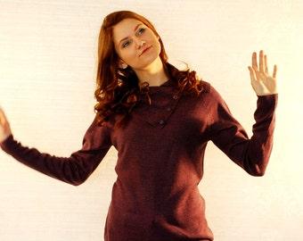LARGE SWEATER /Mod Women Violet Sweater / Women Sweater/  Large Jumper /