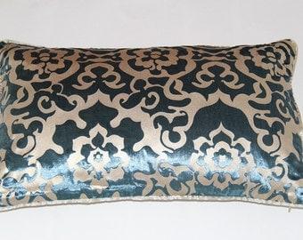 12 x 20 Inches Blue Floarl Decor Pillows
