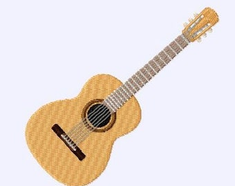 Embroidery pattern - guitar 3""