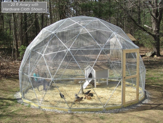 sale 20 ft geodesic dome outdoor aviary flight cage animal. Black Bedroom Furniture Sets. Home Design Ideas