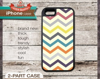Modern Chevron 25 Multi-Color 2 Design - iPhone 6, 6+, 5 5S, 5C, 4 4S, Samsung Galaxy S3, S4