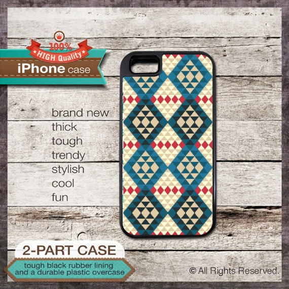 iPhone 6, 5 5S, 5C, 4 4S, Samsung Galaxy S3, S4, S5 - Native American Tribal Pattern - Design Cover 39