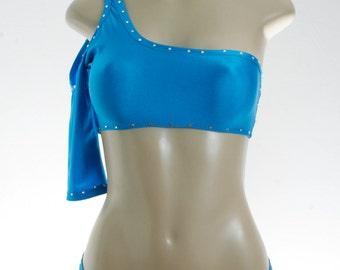Exotic Dancer Cold shoulder top and caged bottom 2 piece set