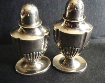 Womderful STERLING SALT and PEPPER Shakers  marked 925 over 1000 Fine Sterling Silver - English Hallmarks -.Art Deco Style