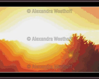 "Cross stitch chart ""Sonnenaufgang"""