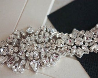 Crystal Sash  belt - Krystal 18 inches (made to order)