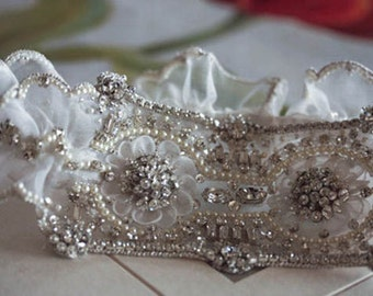 Heirloom Bridal Garter Set   - MI  (Made to Order)