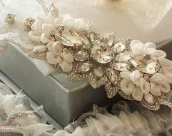 Heirloom Wedding Garter Set  - Soft Custom Colors (Made to Order)