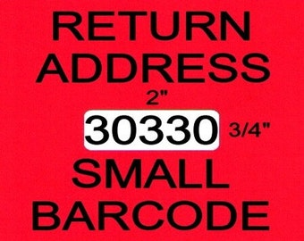 1 Roll Return Address / Barcode Label fits DYMO 30330 - BPA Free