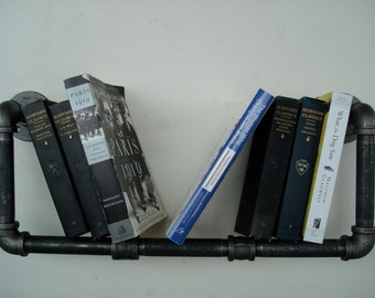 Industrial Horizontal Pipe Book Shelf