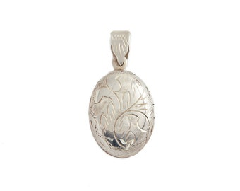 Etched Stering Silver Locket