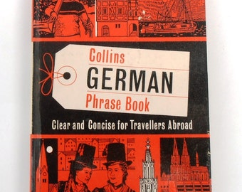 Vintage Collins German Phrase Book Great For Holidays.