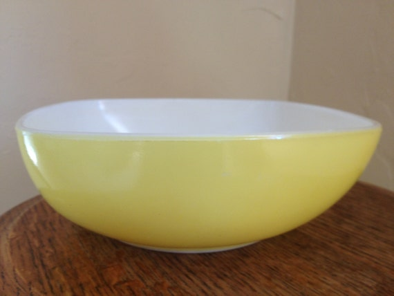 Vintage Yellow Square Pyrex Bowl-Great Condition 7 by ...