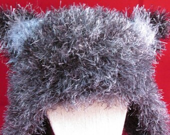 Wolfish Knit Earflap Hat